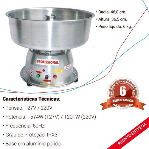 máquina algodão doce profissional 110/220v polida ademaq