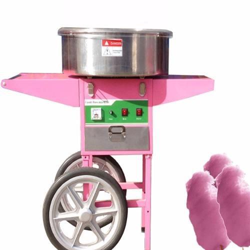maquina algodón azúcar profesional  con carro uno x minuto