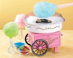 maquina algodón de azúcar rosada nostalgia electrics