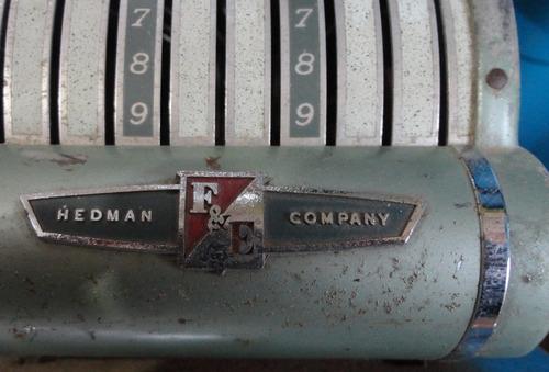 maquina antiga para autent documentos - hedman company -- ax