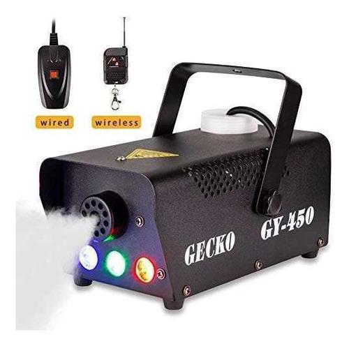 maquina antiniebla portatil con luces led con mando a distan