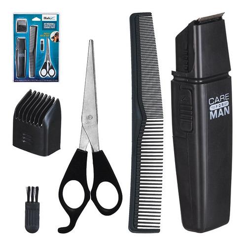 maquina aparador de barba e cabelo c/pente tesoura escova .
