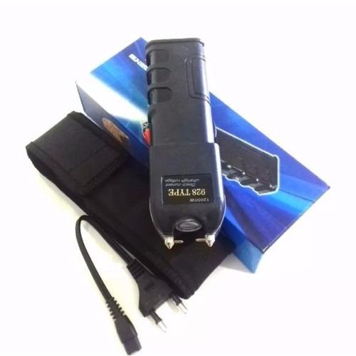 máquina aparelho choque israel pistol grip taser lanter led