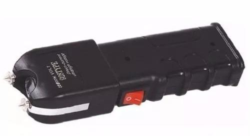 máquina aparelho d choque defesa pessoal taser lanterna led