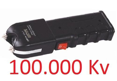 máquina aparelho de choque defesa pessoal taser 100.000kv
