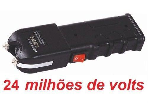 máquina aparelho de choque defesa pessoal taser 24.000kv