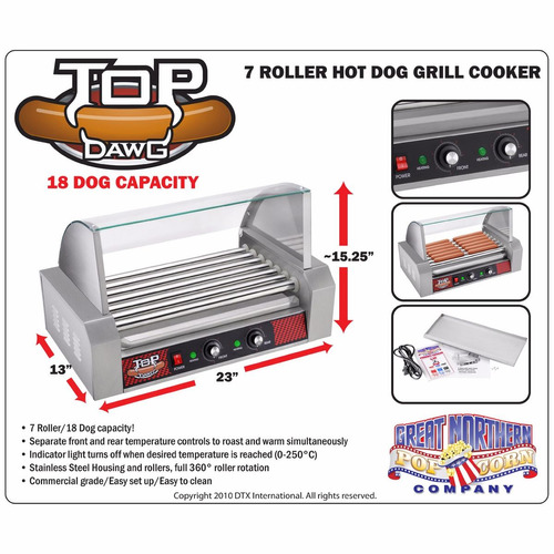maquina asador perros calientes 18 salchichas envio gratis