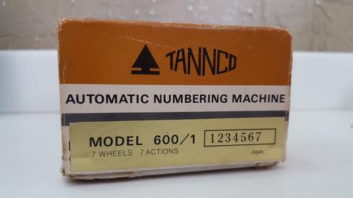 máquina automática de números tannco novo - raridade