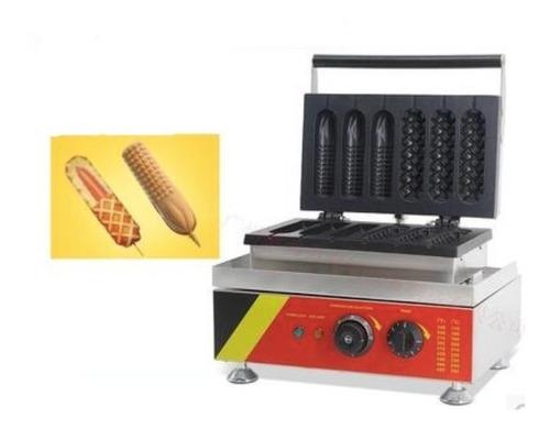 maquina banderillas hot-dogs waffleados 2 estilos diferentes