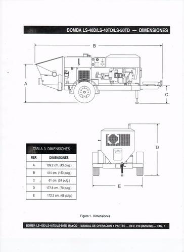 maquina bombeadora de concreto estacionaria mayco ls-50