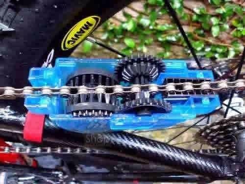 maquina caixa de limpar corrente bicicleta limpa lubrifica