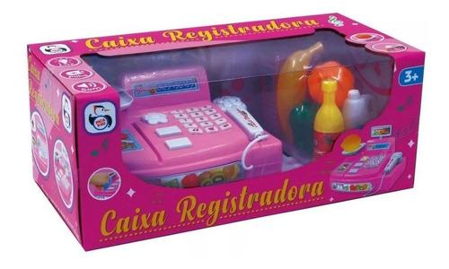 máquina caixa registradora infantil som luz e acessórios.