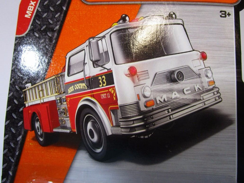 maquina camion bomberos mack escala 7cm coleccion matchbox