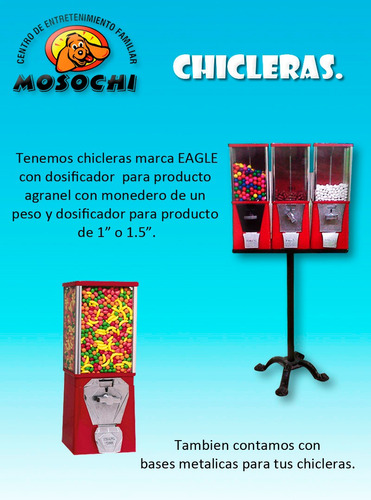 maquina chiclera+base expandible+chicle+envio