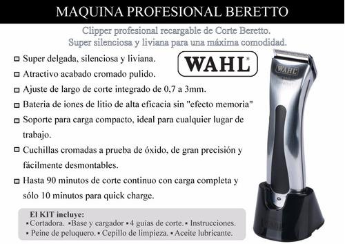maquina clipper profesional de corte beretto wahl