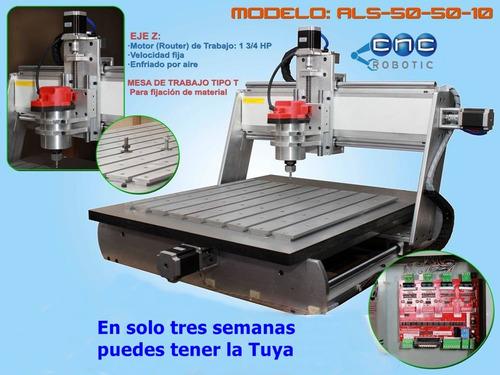 maquina cnc: fresadora control numerico aluminio