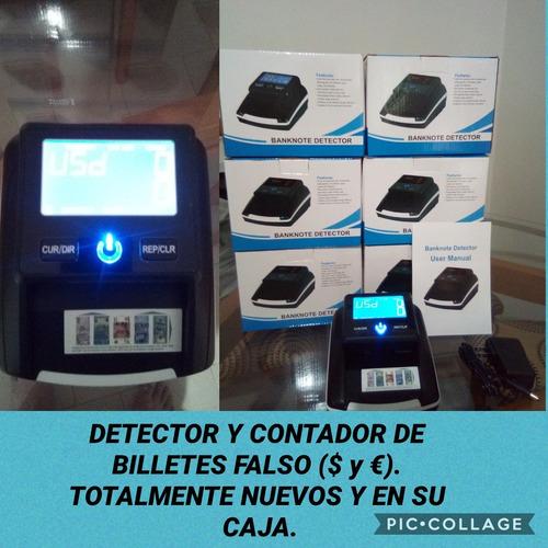 maquina contadora y detectora de billetes falsos
