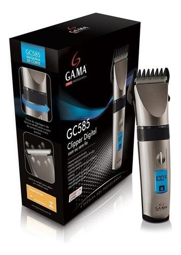 maquina corta barba cabello gama gc585 inalambrica digital