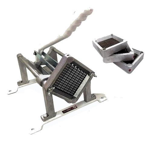 maquina corta papas bastón industrial 3 cuchillas de corte