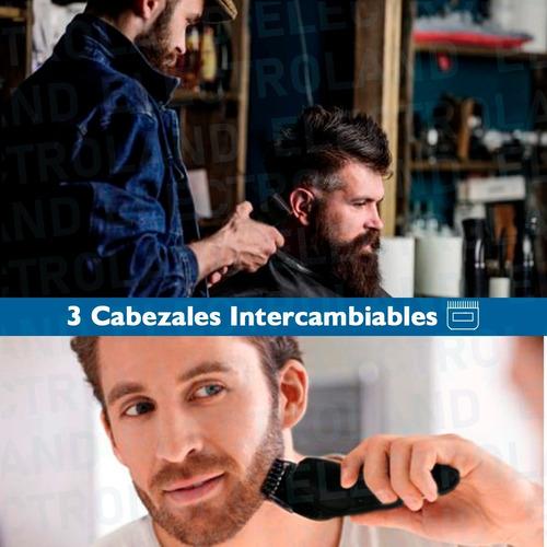 maquina corta pelo barba recortador de nariz con accesorios