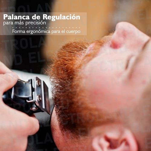 maquina corta pelo cortapelo barba patillas con accesorios