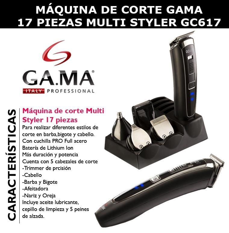 Maquina Corta Pelo Gama Gc617 Trimmer Afeita Barba -   1.759 423484c59693