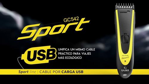 maquina corta pelo usb gama gcs544 sport + trimer nariz oido