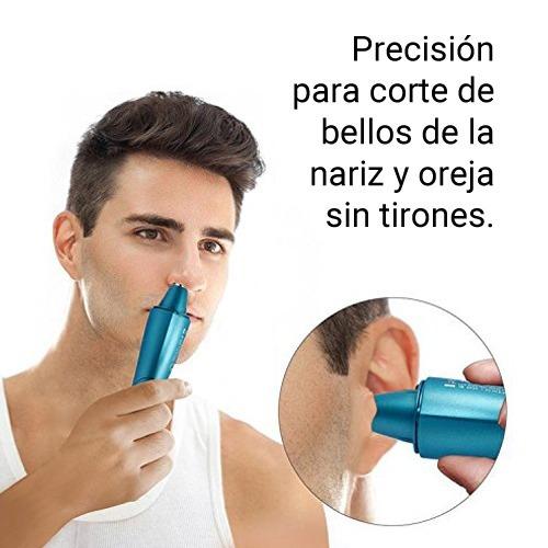 maquina cortadora de pelo nariz oreja con luz led silencioso facil limpieza