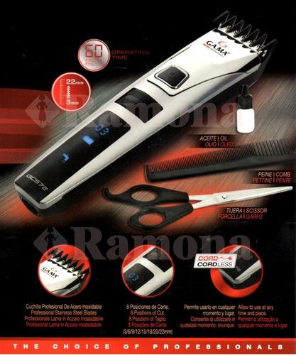 maquina cortadora de pelo y barba gama gc572 lcd 8 niveles