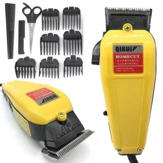 3534e40ba Máquina Cortar Barba E Cabelo Profissional 110v Kit Qirui - R$ 119,00 em  Mercado Livre
