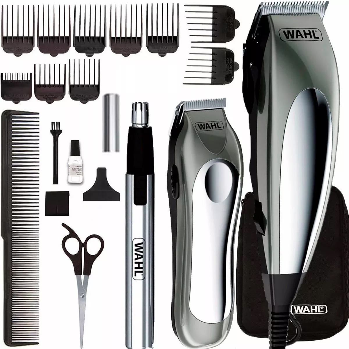 060824493 máquina cortar cabelo wahl deluxe groom pro completa. Carregando zoom. Kit  Masculino Maquina ...