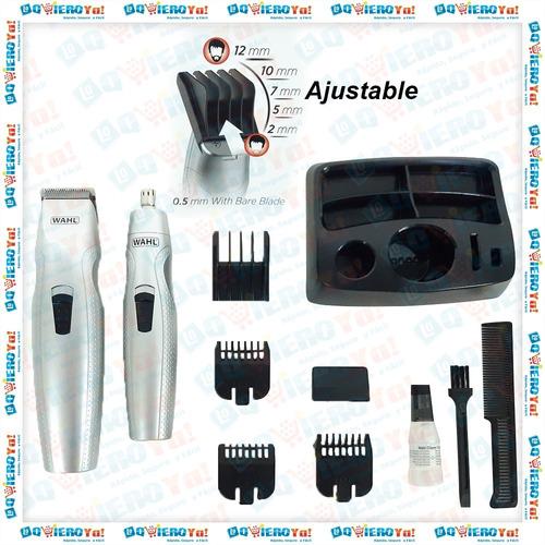 maquina cortar pelo home cut 20 piezas wahl + patillera + nasal
