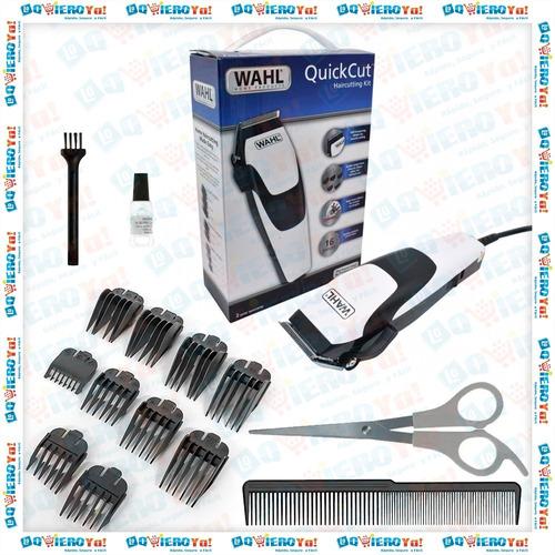 maquina cortar pelo quick cut 16 piezas + patillera y nasal wahl