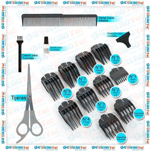 maquina cortar pelo quick cut 16 piezas wahl + nasal + patillera