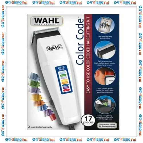 maquina cortar pelo wahl color code 2019 + nasal + patillera