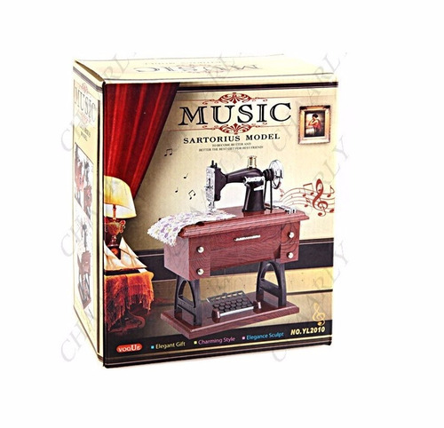 maquina coser caja musical grande 30cm madre abuela suegra