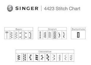 maquina coser industrial 23 puntadas singer 4423 heavy duty