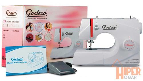 maquina coser y bordar godeco virtuosa 23 diseños enhebrador