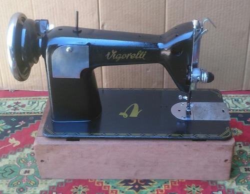 máquina costura antiga vigorelli 77 motor pedal funcionando