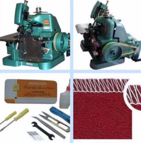máquina costura overlock + galoneira semi-industrial 3agulha