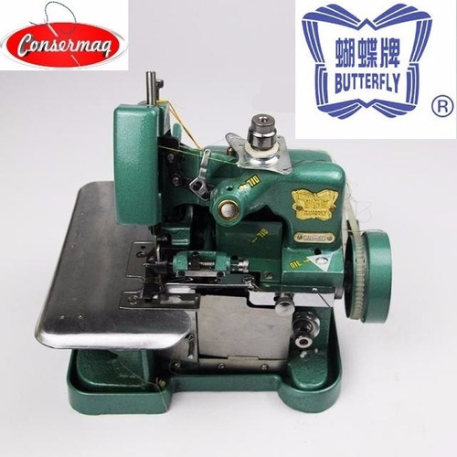 maquina costura overlock semi industrial butterfly c/ motor