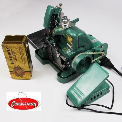 maquina costura overlock semi industrial butterfly c/ motor