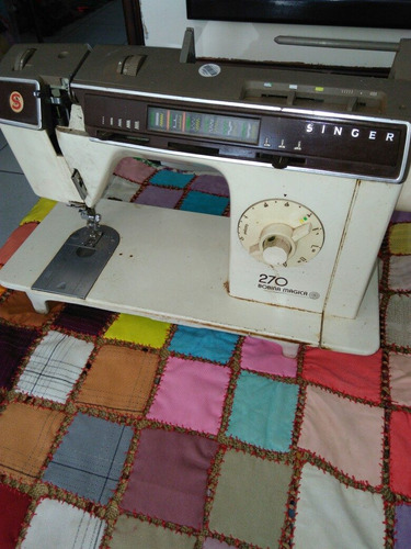máquina costura singer 270 bobina magica