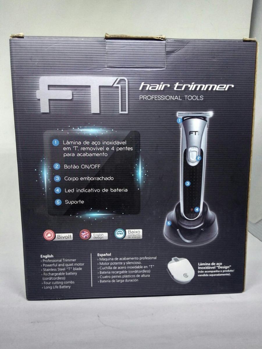 13b32be28 Maquina De Acabamento Hair Trimmer Ft1 Bvolt - R$ 184,95 em Mercado ...