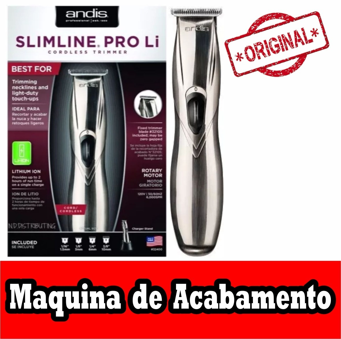 7301127be Máquina De Acabamento Slimline Pro Li Andis (bivolt) - R$ 348,99 em ...