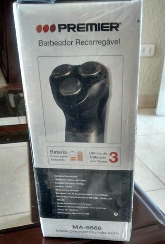 maquina de afeitar barba premier recargable 3 hojillas