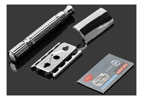 máquina de afeitar clásica + cuchillas envio gratis + regalo