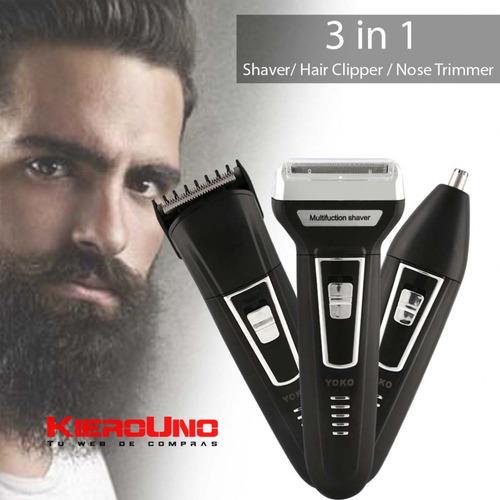 maquina de afeitar corta pelo barba patillas pelos nariz