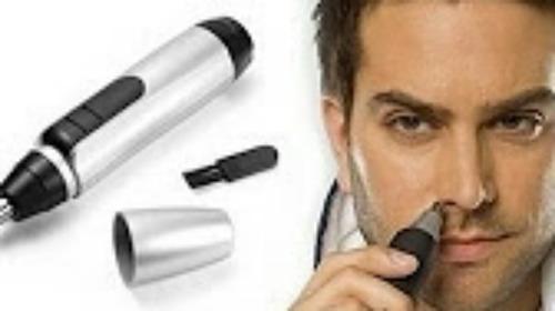 maquina de afeitar electrica + depilador nazal local moron