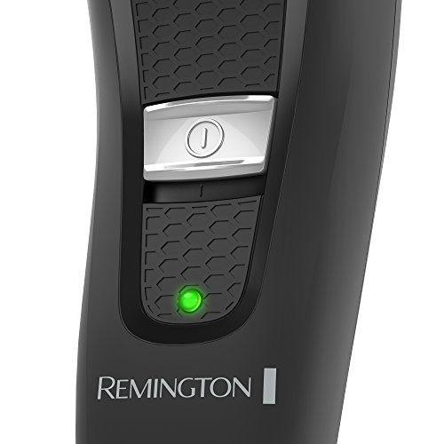 maquina de afeitar eléctrica remington negra recargable